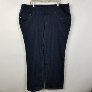 Jag Jeans Pull On High Rise Straight Dark Wash 24W